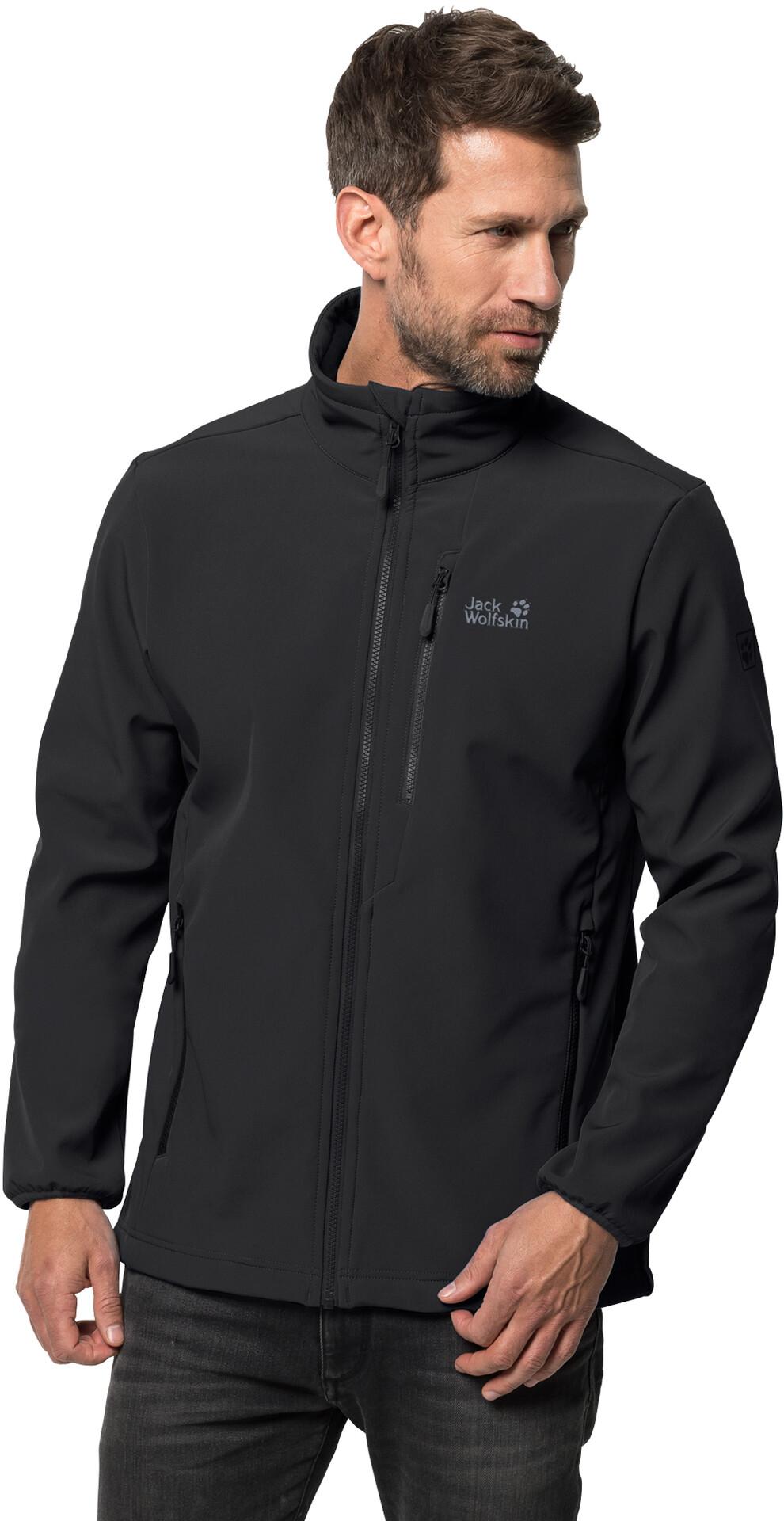 Jack Wolfskin Whirlwind Softshell Jacket Men, black